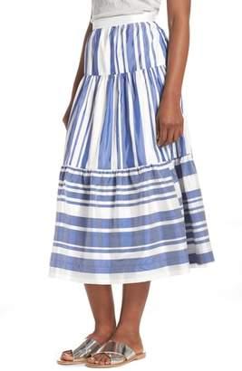 J.Crew J. CREW Stripe Shantung Skirt