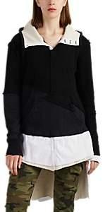 "Greg Lauren Women's ""Preppy"" Cashmere & Cotton Hoodie - Black"