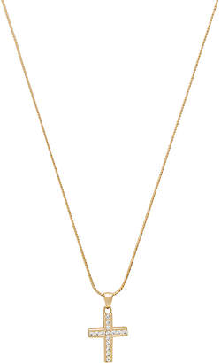 Vanessa Mooney The Marcella Gold & Crystal Cross Charm Necklace