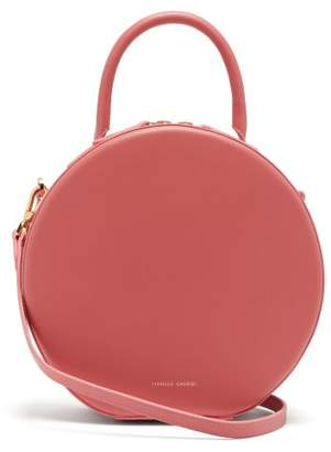 Mansur Gavriel Circle Leather Cross Body Bag - Womens - Pink