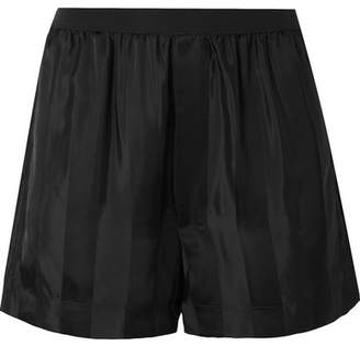 Marc Jacobs Striped Satin-jacquard Shorts - Black