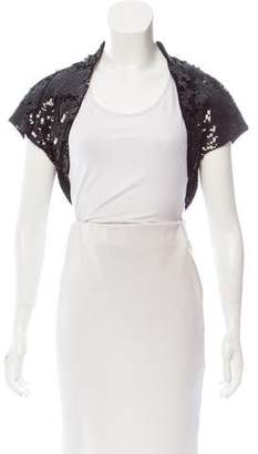Dolce & Gabbana Sequined Open Front Shrug