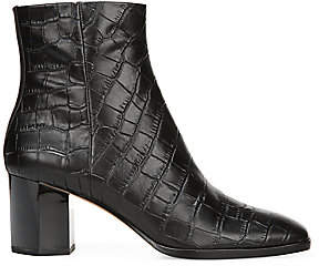 Diane von Furstenberg Women's Thelma Croc-Embossed Leather Ankle Boots