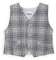 Officina51 Infants' Plaid Knit Cotton-Blend Vest - Gray