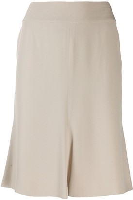 Chanel Pre-Owned 2004's box pleat slim-fit skirt