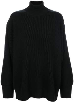 Stella McCartney shoulder panel turtleneck jumper