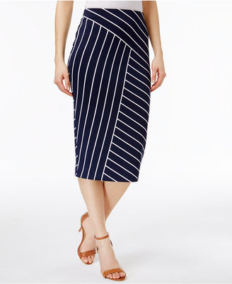 Alfani Below-Knee Printed Pencil Skirt, Only at Macy's $59.50 thestylecure.com