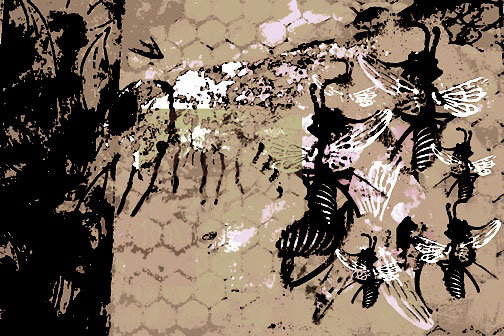 Parvez Taj - Busy Bees Stretched Canvas