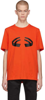Helmut Lang Orange Halloween T-Shirt