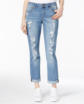 RACHEL Rachel Roy Ripped Girlfriend Jeans, Only at Macy's $89 thestylecure.com