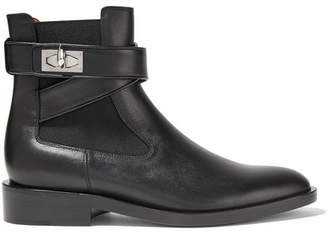Givenchy Shark Lock Leather Ankle Boots - Black