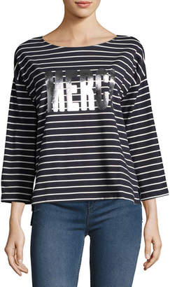 French Connection Merci Stripe T-Shirt