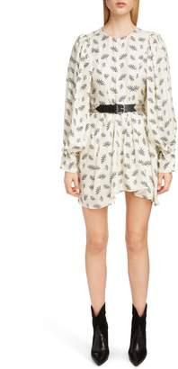 Isabel Marant Fan Print Silk Dress