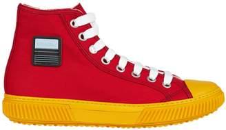 Prada Linea Rossa Prada Logo Patch Hi-top Sneakers