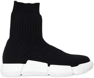 Elena Iachi 30mm Rib Knit Sock Pull-On Sneakers