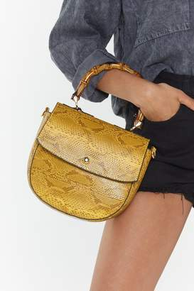 Nasty Gal WANT Snake Hold Bamboo Shoulder Bag