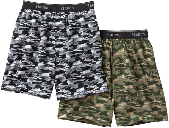 Hanes 2-pk. comfortsoft ® camouflage boxers - boys 2-20
