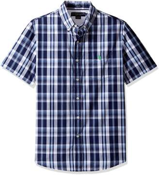 U.S. Polo Assn. Men's Striped, Plaid Or Print Single Pocket Slim Fit Sport Shirt