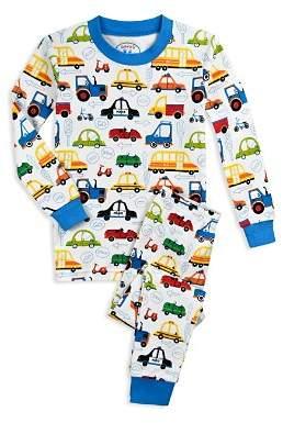 Sara's Prints Girls' Cartoon Car Pajama Shirt & Pants Set - Little Kid