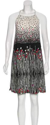 Tibi Printed High-low Sleeveless Dress