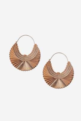 Topshop **Engraved Hoop Earrings