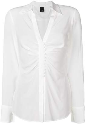 Pinko ruched crepe de chine blouse