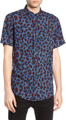 The Rail Leopard Print Rayon Shirt