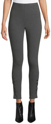 Johnny Was Plus Size Darielle Tonal-Embroidered Leggings