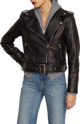 Habitual Aubrey Leather Moto Jacket