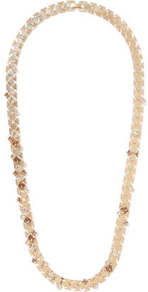 Lanvin - Gold-tone Crystal Necklace $1,295 thestylecure.com