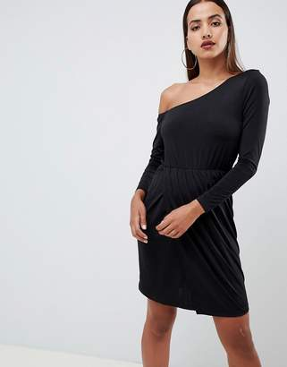 Asos Design DESIGN one shoulder drapey mini dress