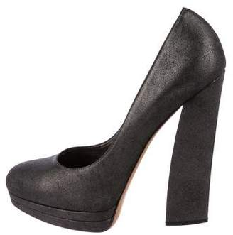 Casadei Suede Round-Toe Pumps w/ Tags