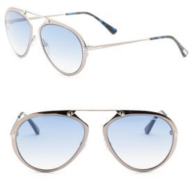 Tom Ford Tom Ford Eyewear Dashel 55MM Pilot Sunglasses