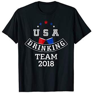 USA Drinking Team 2018 Party T-Shirt USA Beer Drinking Shirt