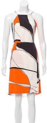 Yigal Azrouel Printed Silk Mini Dress