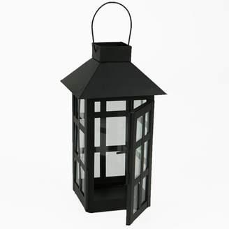 At Mind Reader Lantern Decorative Candle Indoor Outdoor Hanging Matte Black