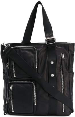 Diesel Black Gold multi-zipped bag