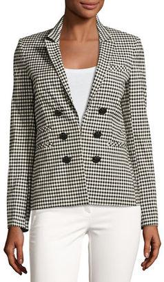 Veronica Beard Cottage Gingham Jacket $645 thestylecure.com