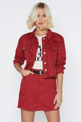 Nasty Gal Coloured Denim Jacket
