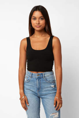 Groceries Fitted Crop Tank Top