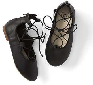 Lace-up ballet flats $29.95 thestylecure.com