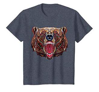 Unique & Modern Aztec Grizzly Bear Art T-Shirt | CUAI0089
