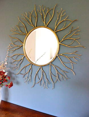 Co The Forest & Large Golden Twig Mirror