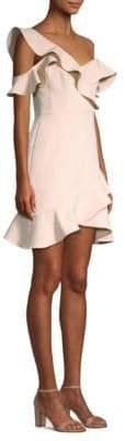 BCBGMAXAZRIA Asymmetric Cocktail Dress