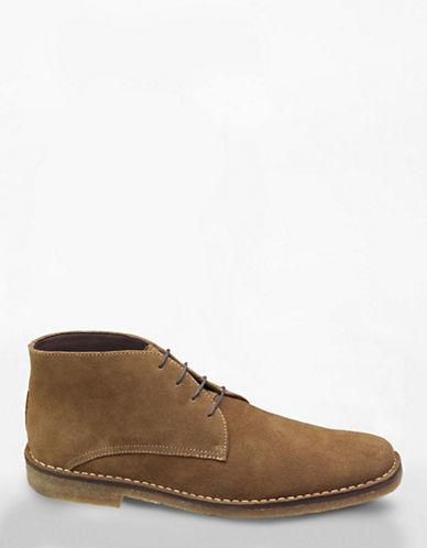 Johnston & Murphy Runnel Camel Suede Chukka Boots