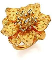 Kenneth Jay Lane Women's Anemone Flower Ring