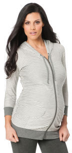 A Pea in the Pod Long Sleeve V-neck Side Ruched Maternity Hoodie
