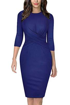 Church's Moyabo Ladies Dresses for Round Neck Twist Front Sheath Bodycon Boutique Dress