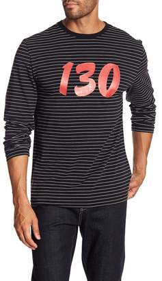 Daniel Won 130 Striped Long Sleeve Tee