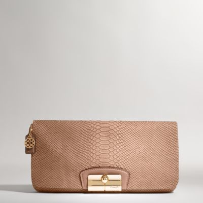 Kristin Embossed Exotic Clutch